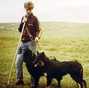 Ulf Kintzel with Old German Shepherd (Black) and Old German Shepherd, type Gelbbacke (Yellow Check)